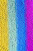 Colorful african peruvian style textile surface close up — Stock Photo