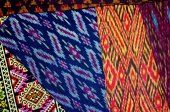 Pattern of thai hand made fabric background  — 图库照片