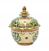 Benjarong porcelain on White background  — Stock Photo