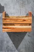 Caja madera estante — Foto de Stock