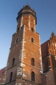 Poland, Kraków, Kazimierz, Bell Tower and West  End of Corpus C — Stock Photo