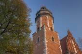 Poland, Kraków, Kazimierz, West  End of Corpus Christi Gothic C — Stock Photo