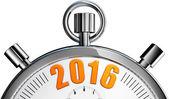 Stop watch 2016 — Stock Photo