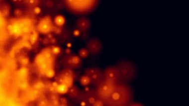 Fire Galaxy Particles Background Seamless Loop HD — Stock Video