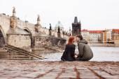 Young couple in love. Prague, Czech Republic, Europe. — Stock Photo