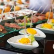 Food for cocktail on wedding party — Foto Stock #53405601