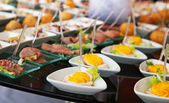 Food for cocktail on wedding party — Stock Photo