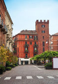Asti, piazza Statuto, Piedmont, Italy — Stock Photo