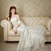 晚礼服的女人 — 图库照片