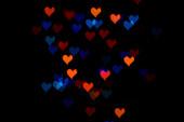 Bokeh hart — Stockfoto