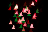 Bokeh Christmas tree — Stock Photo