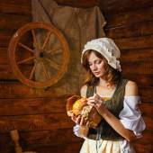 Peasant woman — Stock Photo