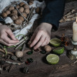 Witch preparing potion — Stock Photo #59212811