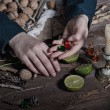 Witch preparing potion — Stock Photo #59212797