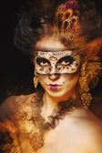 Girl in masquerade mask — Stock Photo