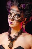 Girl in masquerade mask — Stock Photo