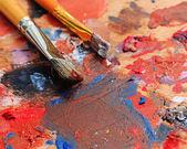 Brush and paint painter — Stock Photo