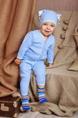 Baby in pajamas — Stock Photo