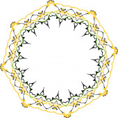 Vector floral ornament — Stock Vector