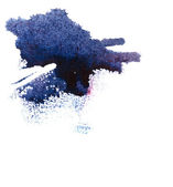 Macchie di inchiostro astratta — Foto Stock