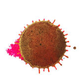 Abstract brown magenta ink stain on a white background — Stock Photo