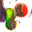 Abstract red, orange, yellow, green, blue, indigo, violet, ink s — Stock Photo #70980253
