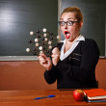 Chemistry teacher surprised. — Stock Photo #77765306