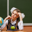 Excellent student in geography lessons. — Stock Photo #78057394