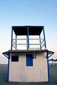 Lifeguard cabin in spanish coast — Stock Photo