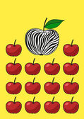 Unusual apple. — Stock Vector