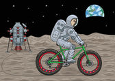 Space fatbike. — Stock Vector