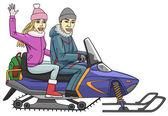 Snowmobile. — Stock Vector