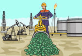 Oilman. — Stock Vector