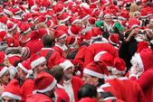Santa day London December 2014 — Stock Photo