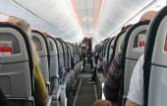 Airplane cabin — Stock Photo