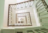 Square staircase perspective, view from above — Stock Photo