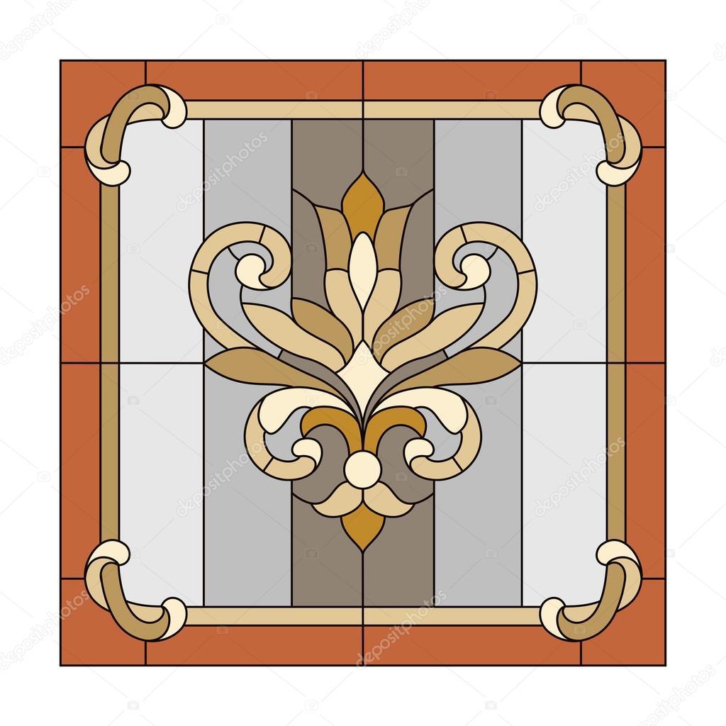Fönster blyinfattade fönster : Blyinfattade fönster — Stock Vektor © gamiag #110278320