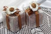 Weddings favors with home made cosmetics — Stock Photo