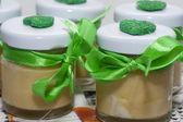 Biological home made nourishing cream — Stock Photo