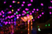 Wiele kolor bokeh streszczenie tło światło — Zdjęcie stockowe