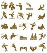 Summer Olympics Icons Set (Gold) — Stock Photo