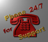 Phone 24-7 for Support — Stock Photo
