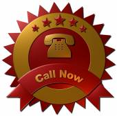 Call Now seal — Stock Photo