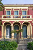 Architecture in the old town of Corfu island, Greece — Foto Stock
