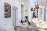 Street in Milos island, Cyclades, Greece — Stock Photo