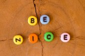 Colored be nice — Stock Photo