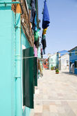 The colors of the walls of Burano island — Stock Photo