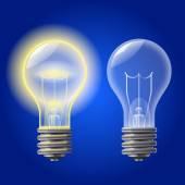 Isolatet on-off light bulb — Stock Vector