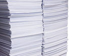 Stack of used paper for reuse — Stock Photo