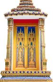 Beautiful Thai temple window on white background — ストック写真